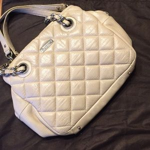 Cream Quilted Leather Kate Spade Bag